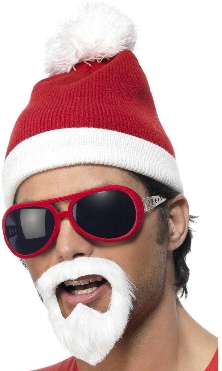 Santa Gangsta Beanie Hat - Fancy Dress (Christmas)