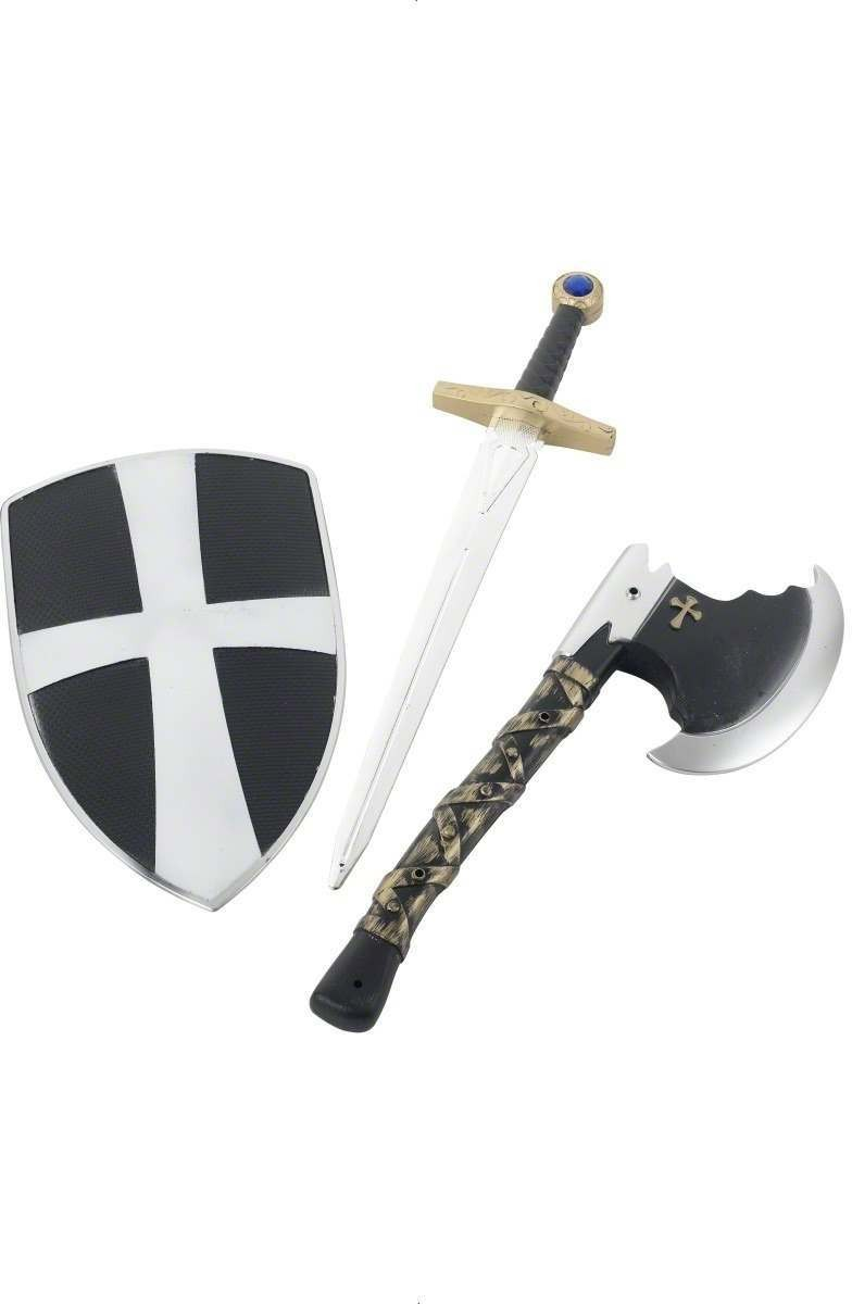 3 Piece Crusader Set - Fancy Dress Boys (Medieval)