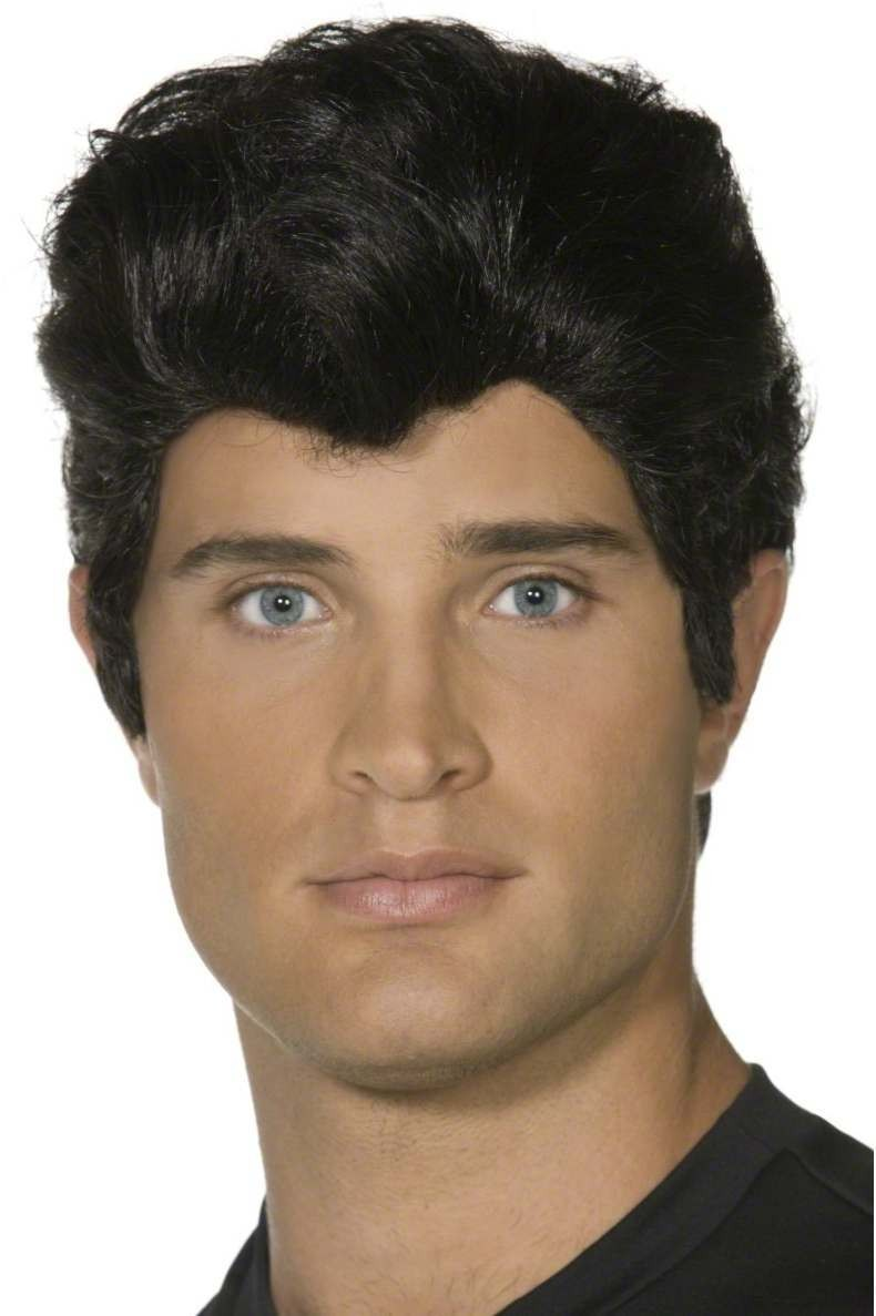 Danny Wig - Fancy Dress Mens (Film) -Black