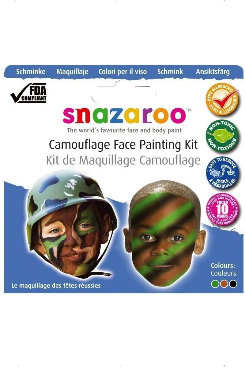 Camouflage Face Painting Kit - Fancy Dress (Army)