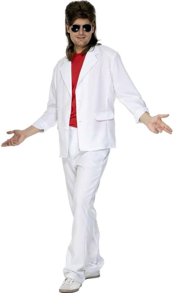 80S Suit Fancy Dress Costume Mens (1980S)