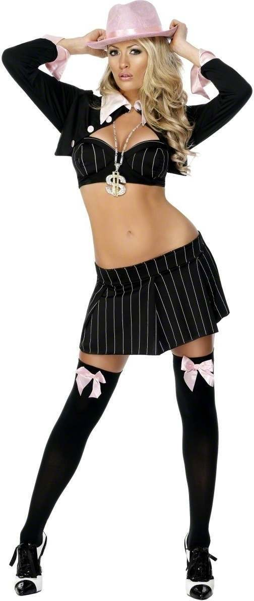 Fever Gangsta Girl Fancy Dress Costume Size 16-18 L (Sexy)