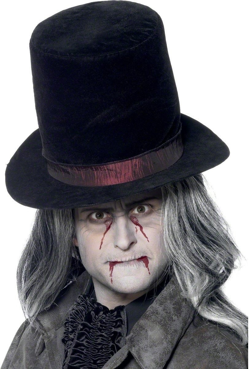 Vampire Top Hat - Fancy Dress Mens (Halloween)