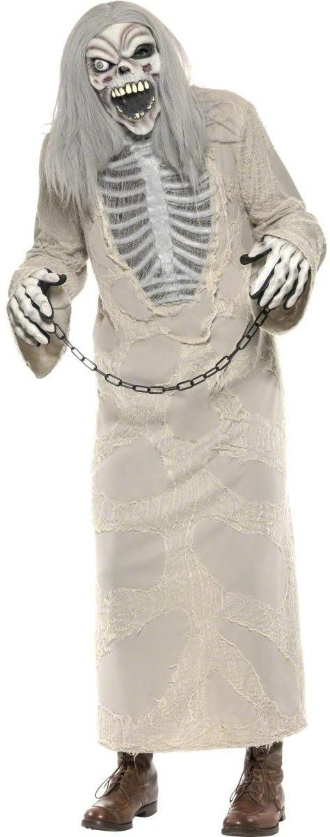 Shackled Ghost Fancy Dress Costume Mens Size 38-40 S (Halloween)