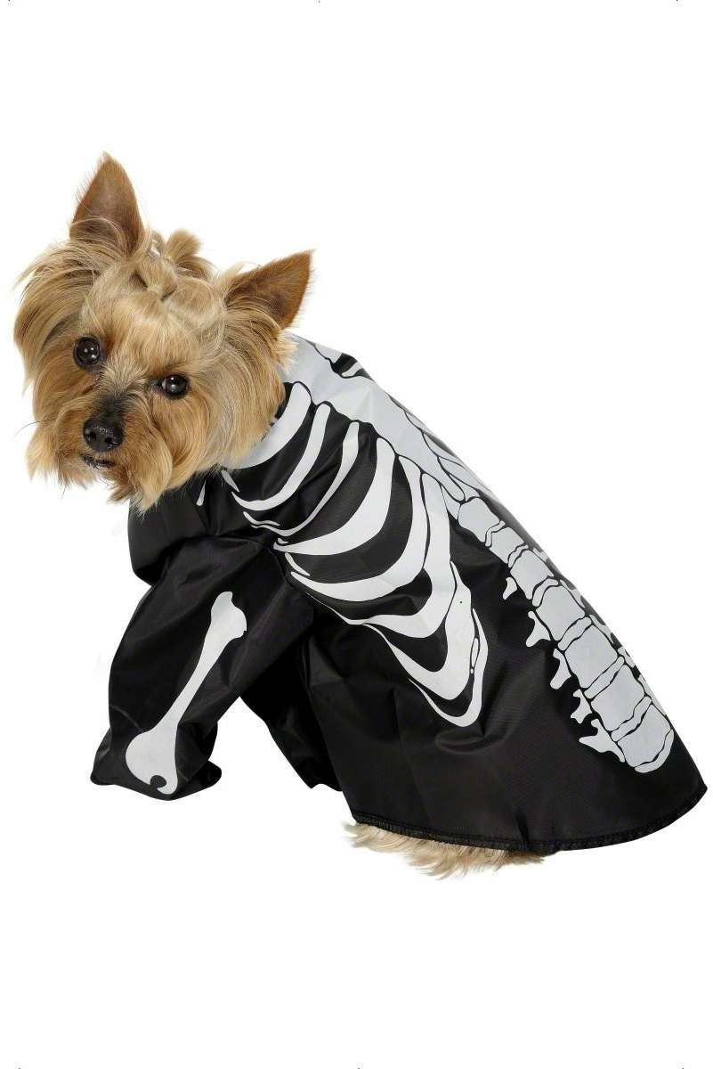 Pet Dog Skeleton Fancy Dress Costume (Halloween)