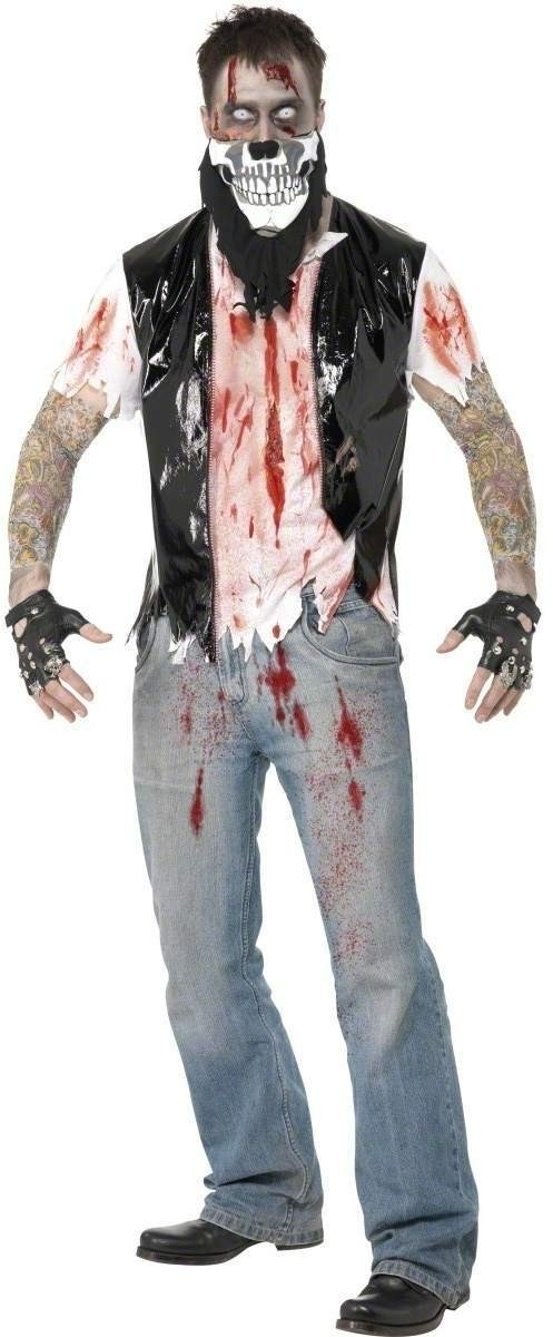 Zombie Biker Fancy Dress Costume Mens (Halloween)