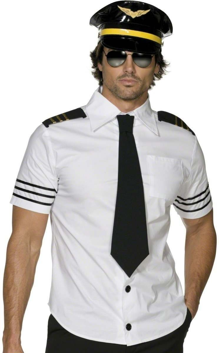Fever Mile High Fancy Dress Costume Mens (Pilot/Air)