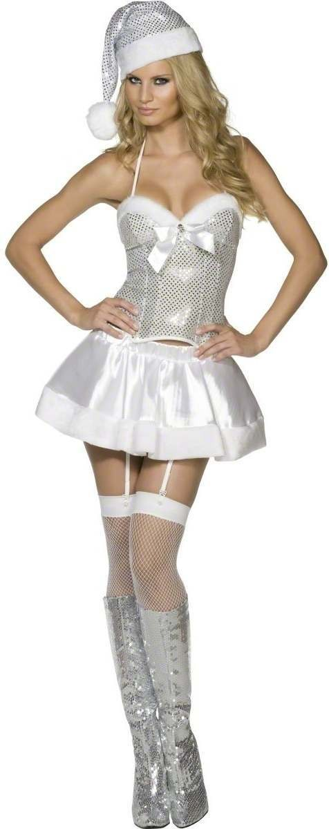 Fever Holiday Cheer Costume-Large Fancy Dress Costume (Sexy)