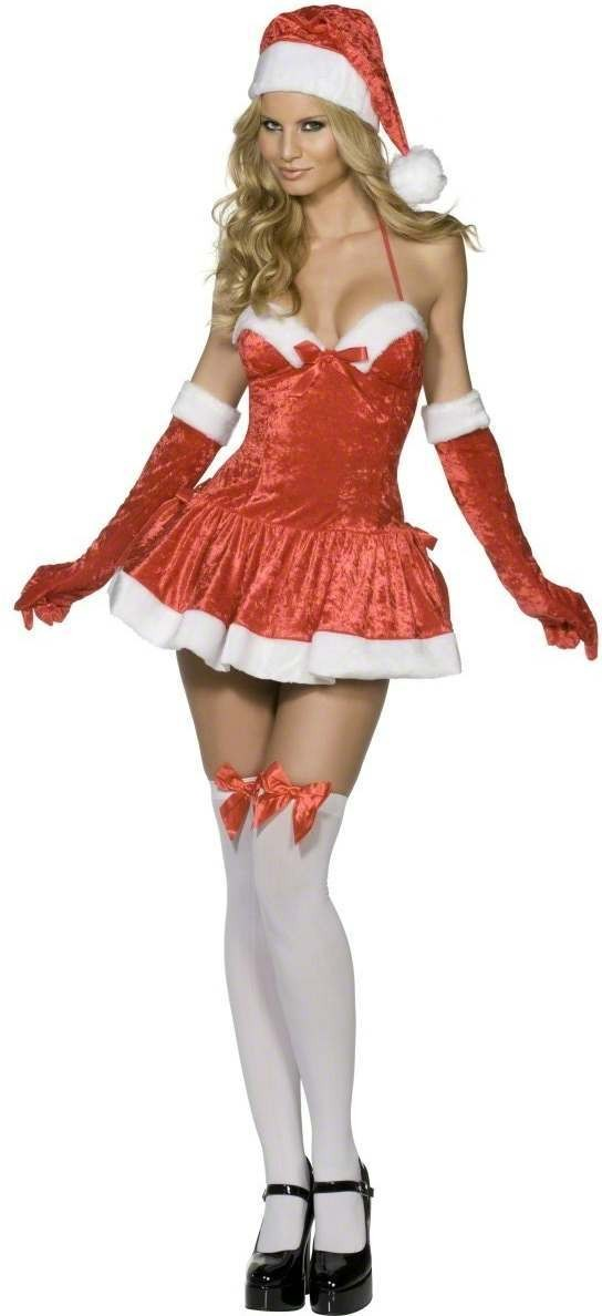 Fever Naughty Miss Santa Fancy Dress Costume Ladies (Sexy)