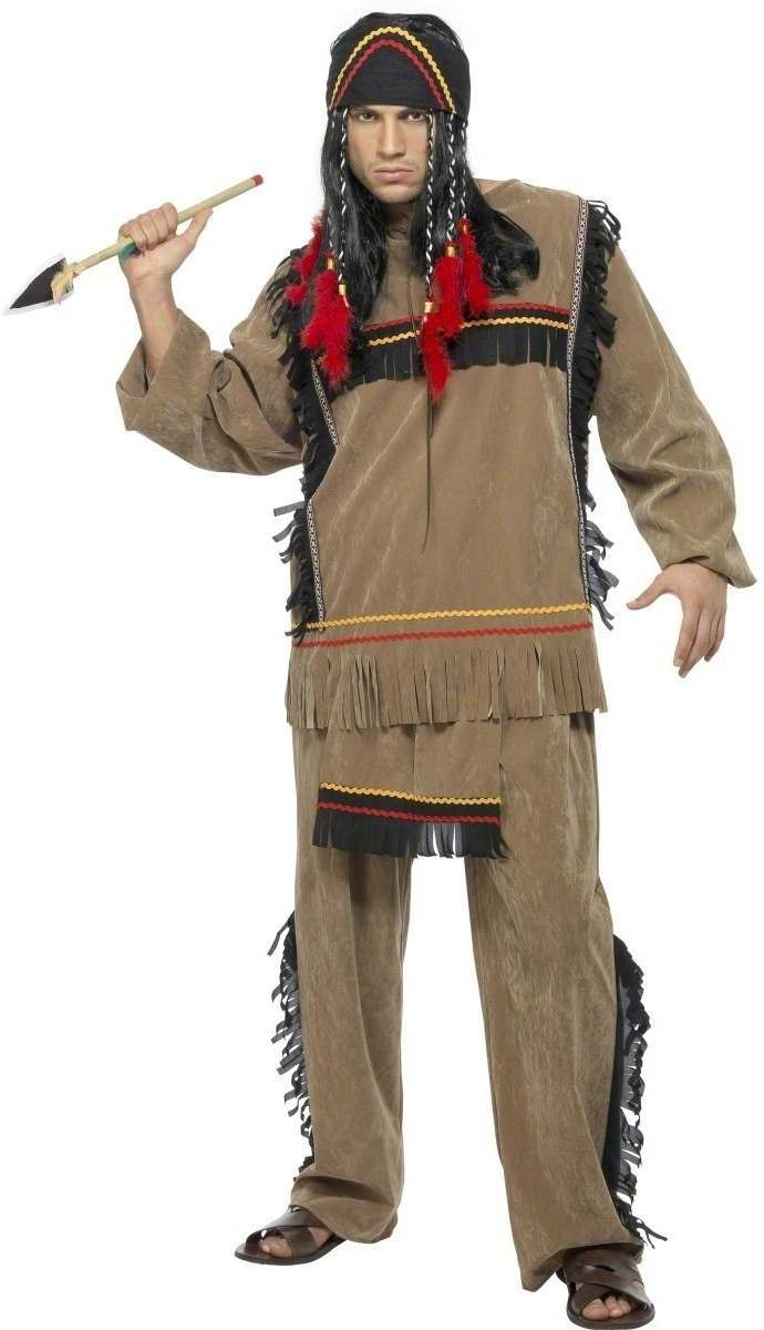 Indian Man Fancy Dress Costume Mens (Cowboys/Indians)