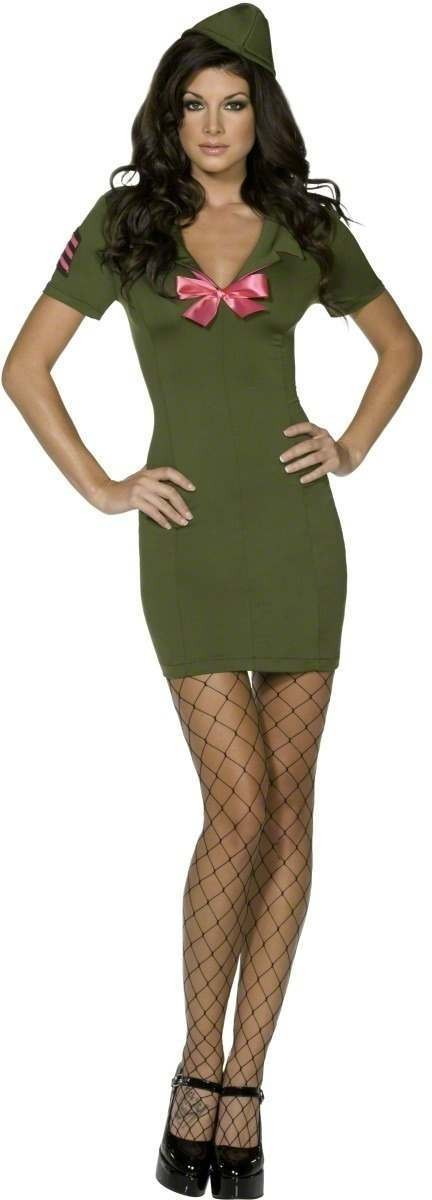 Fever Sexy Army Cadet Fancy Dress Costume Ladies (Sexy)