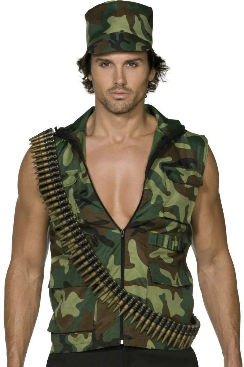 Fever Army Guy Fancy Dress Costume Mens (Sexy)