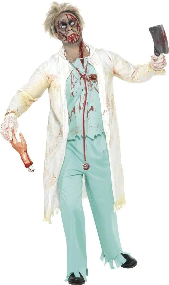 Zombie Doctor Fancy Dress Costume Mens (Halloween)