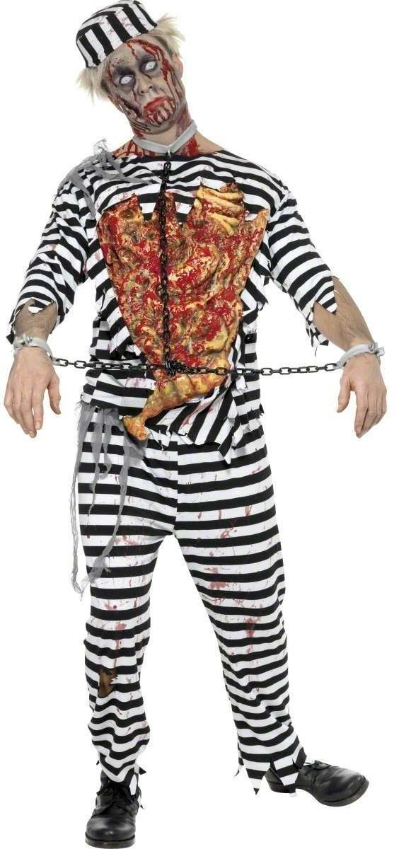 Zombie Convict Fancy Dress Costume Mens (Halloween)
