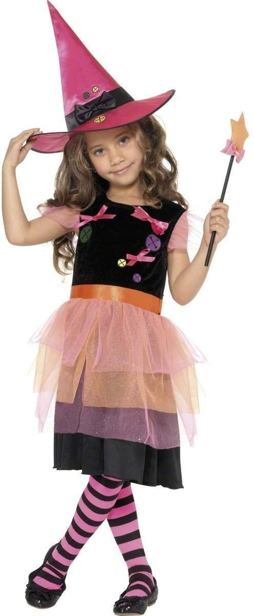 Buttons And Bows Witch Fancy Dress Costume Girls (Halloween)