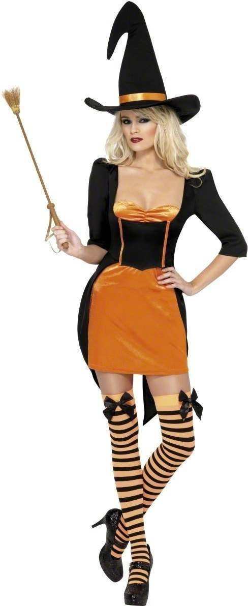 Fever Pumpkin Witch Fancy Dress Costume Ladies (Sexy)