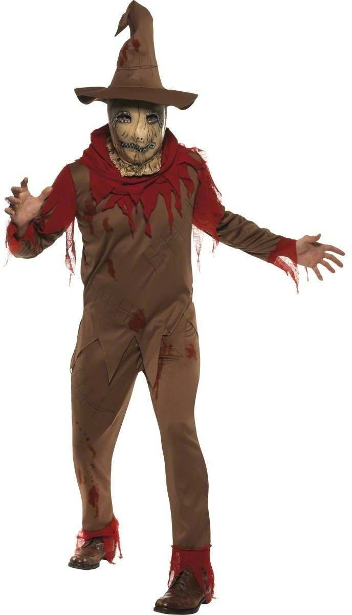 Pumpkin Scarecrow Fancy Dress Costume Mens (Halloween)