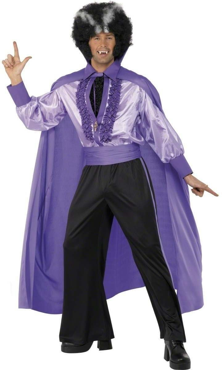Disco Dracula Fancy Dress Costume Mens (Halloween)