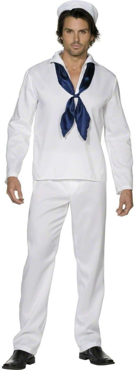 Fever Sailor Man Fancy Dress Costume Mens (Sailor)