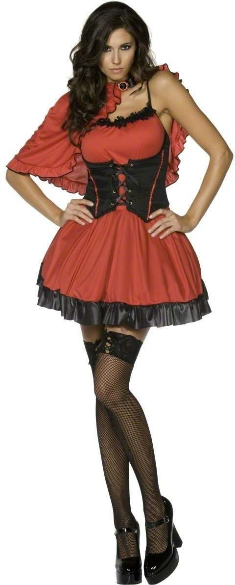 Fever Sexy Red Riding Hood Fancy Dress Costume Ladies (Fairy Tales , Sexy)