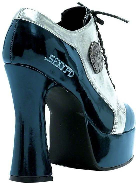 Fever Sexy Cop Shoes Fancy Dress Size Uk 6-7 Ladies (Cops/Robbers)