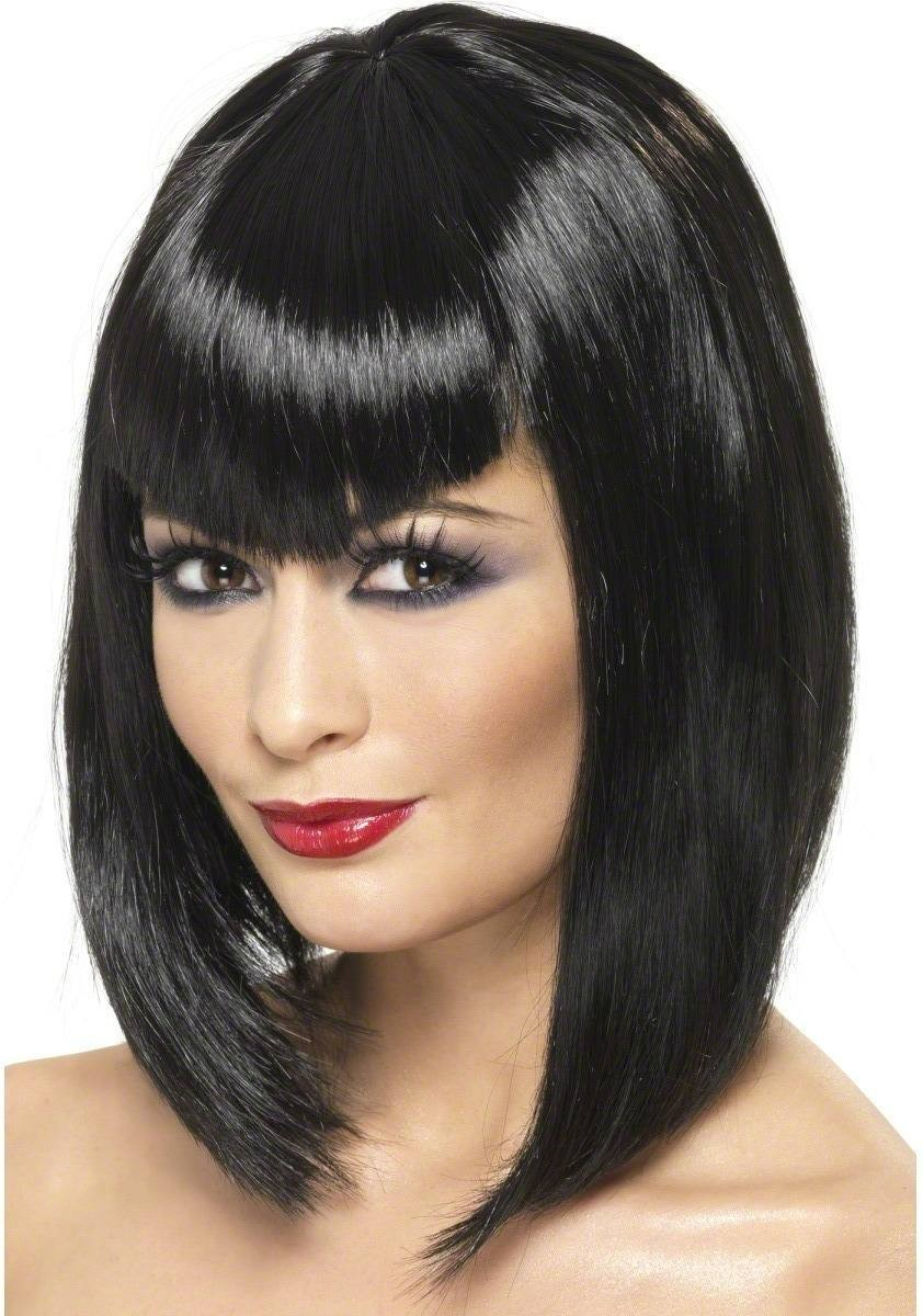 Vamp Wig - Fancy Dress Ladies (Halloween) - Black