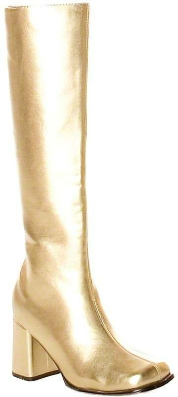 Gogo 60S Style Patent Boots - Fancy Dress Ladies (1960S)