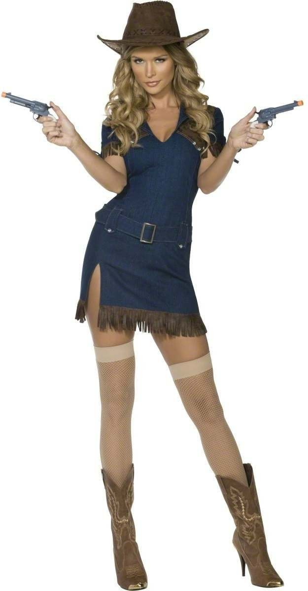 Ladies Fever Gunslinger Fancy Dress Costume