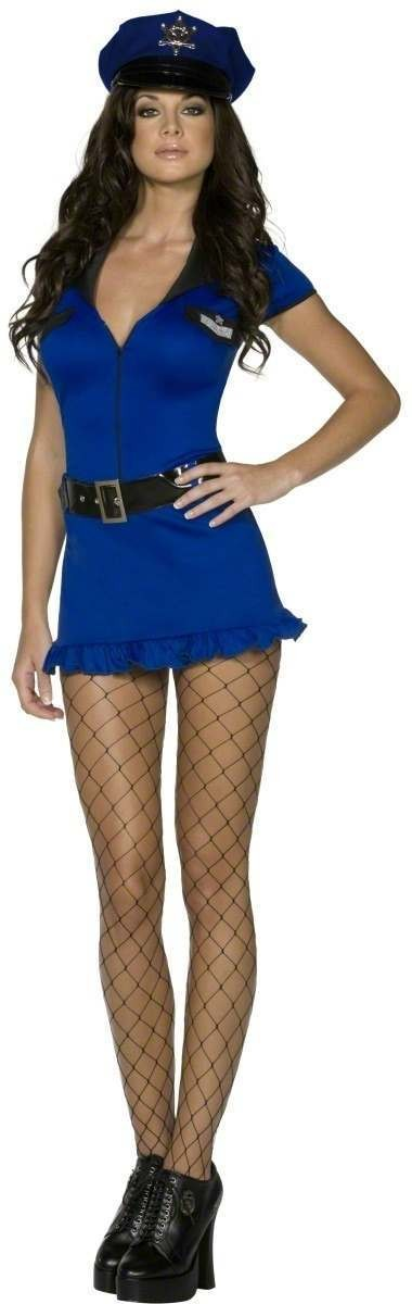 Ladies Fever Cute Cop Fancy Dress Costume