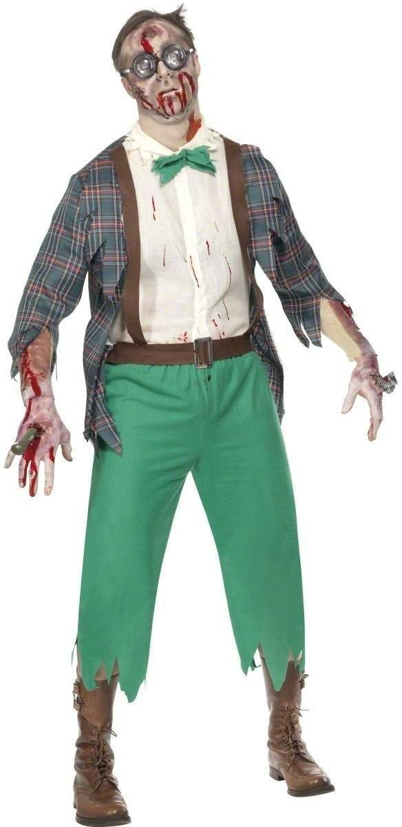 High School Horror Zombie Geek Fancy Dress Costume Mens (Halloween)