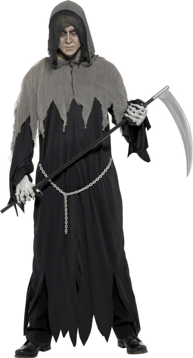 Grim Reaper Fancy Dress Costume Mens Size 38-40 S (Halloween)