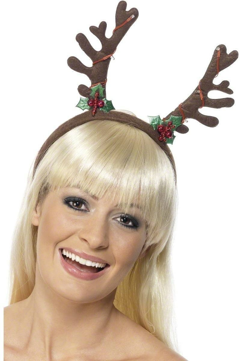 Christmas Flashing Antlers Headband - Fancy Dress (Christmas)