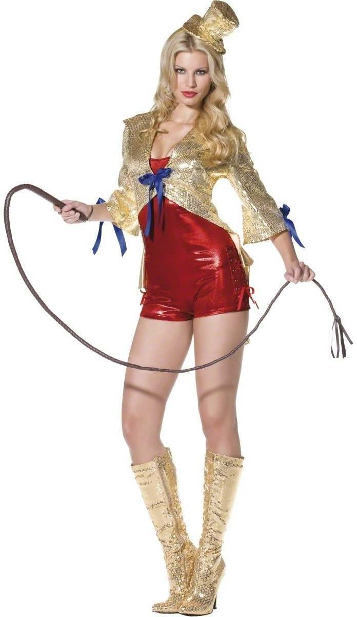 Fever Sparkle Circus Lady Fancy Dress Costume Ladies (Sexy)
