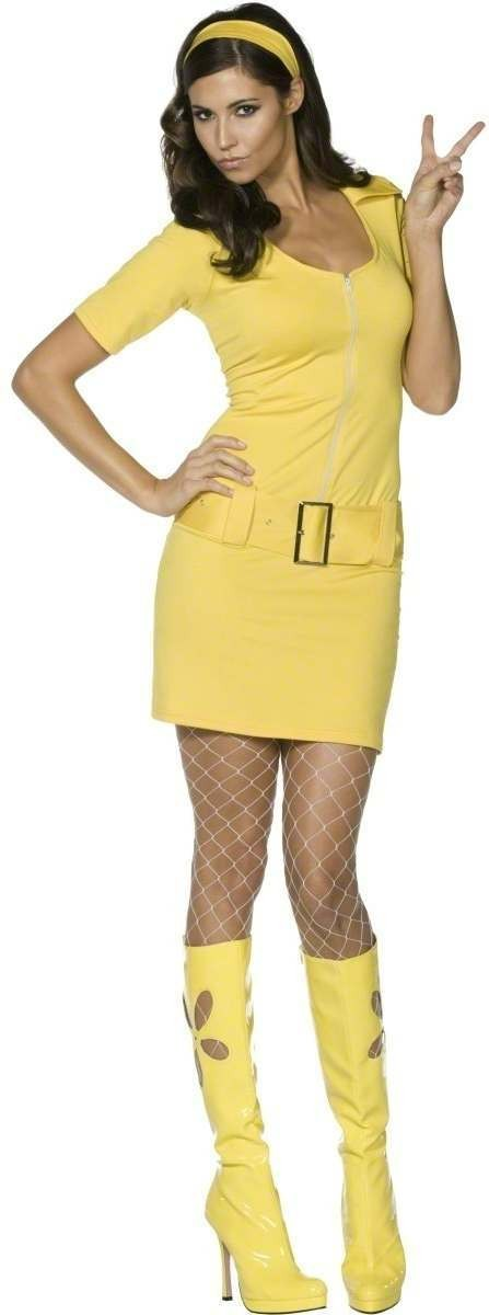 Ladies Fever 60S Mod Fancy Dress Costume