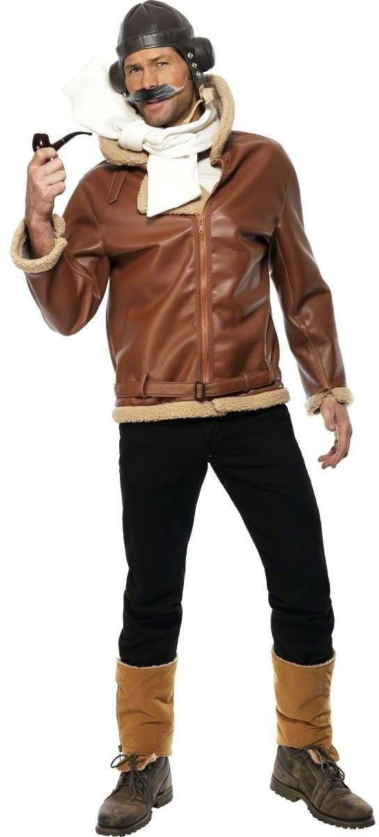 Raf Aviator Fancy Dress Costume Mens Size 38-40 S (Film)