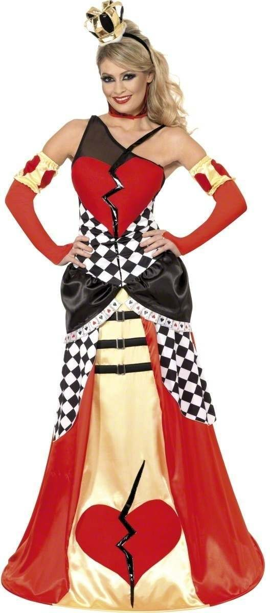 Queen Of Broken Hearts Fancy Dress Costume Ladies (Halloween)