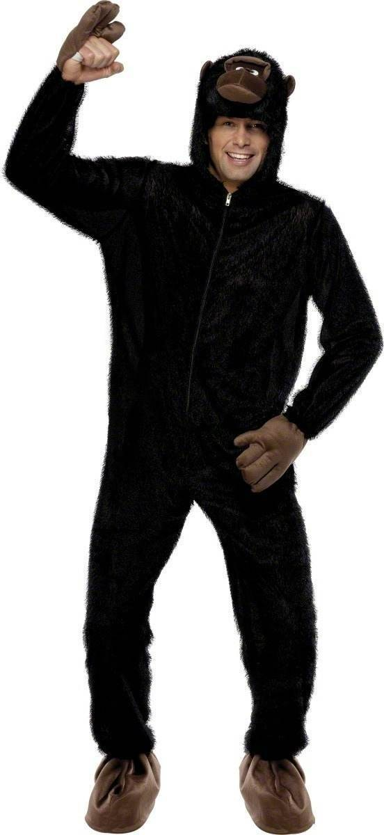 Gorilla Fancy Dress Costume Mens Size 38-40 S (Animals)