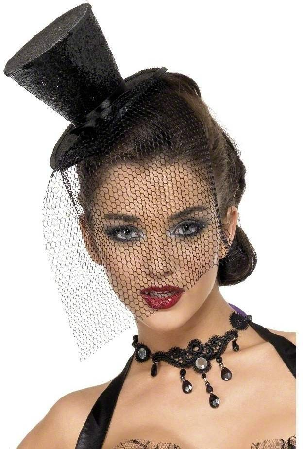 Fever Mini Top Hat - Fancy Dress Ladies (Sexy)