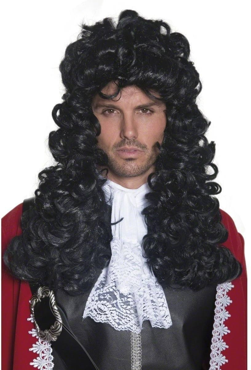 Authentic Pirate Wig - Fancy Dress Mens (Pirates) - Black