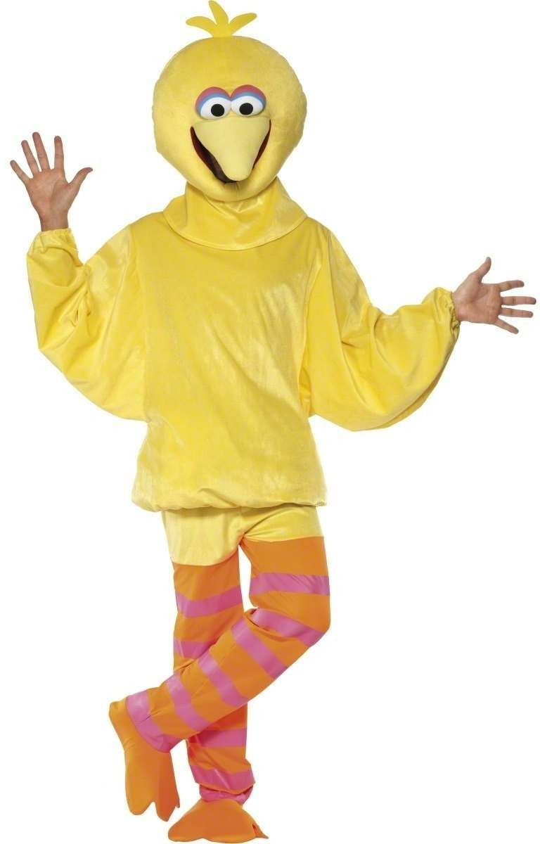 Sesame Street Big Bird Fancy Dress Costume (1970S, 1980S, Animals, Cartoon, Tv)