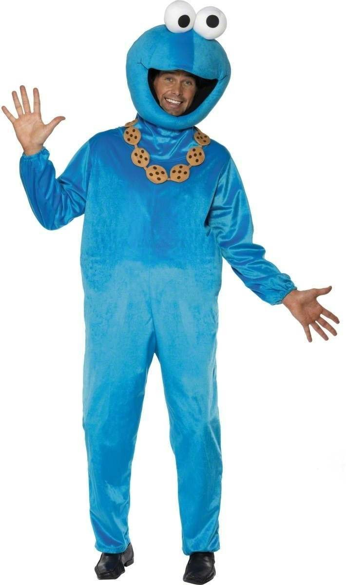 Sesame Street Cookie Monster Fancy Dress Costume (1970S, 1980S, Animals)