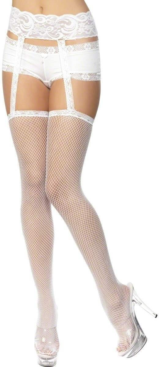 Fishnet Stockings White - Fancy Dress Ladies