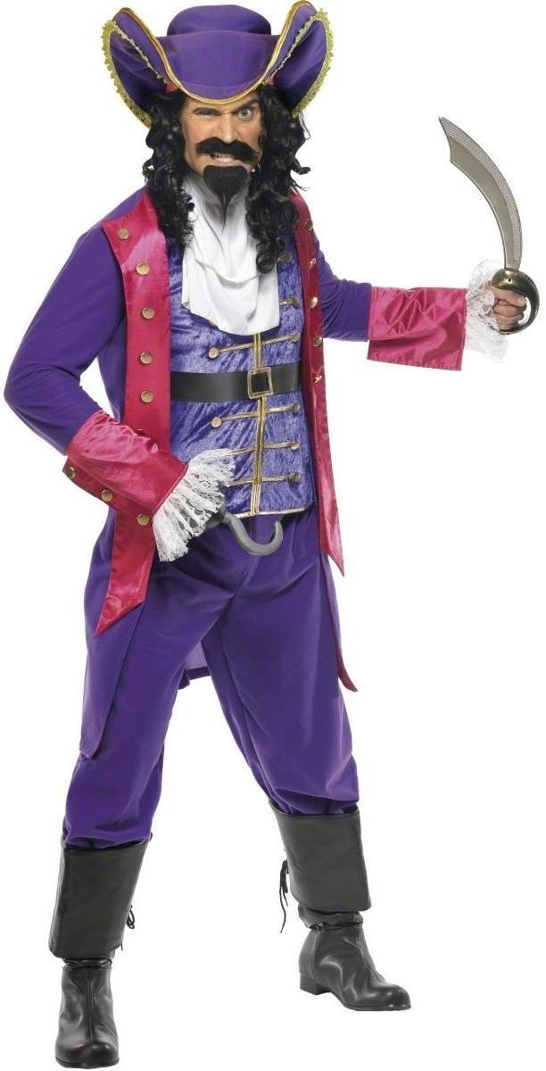 Captain Hook Fancy Dress Costume Mens Size 38-40 S (Cartoon , Film , Tv)