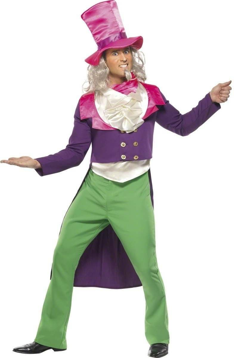 Mad Hatter Fancy Dress Costume Mens Size 38-40 S (Cartoon)