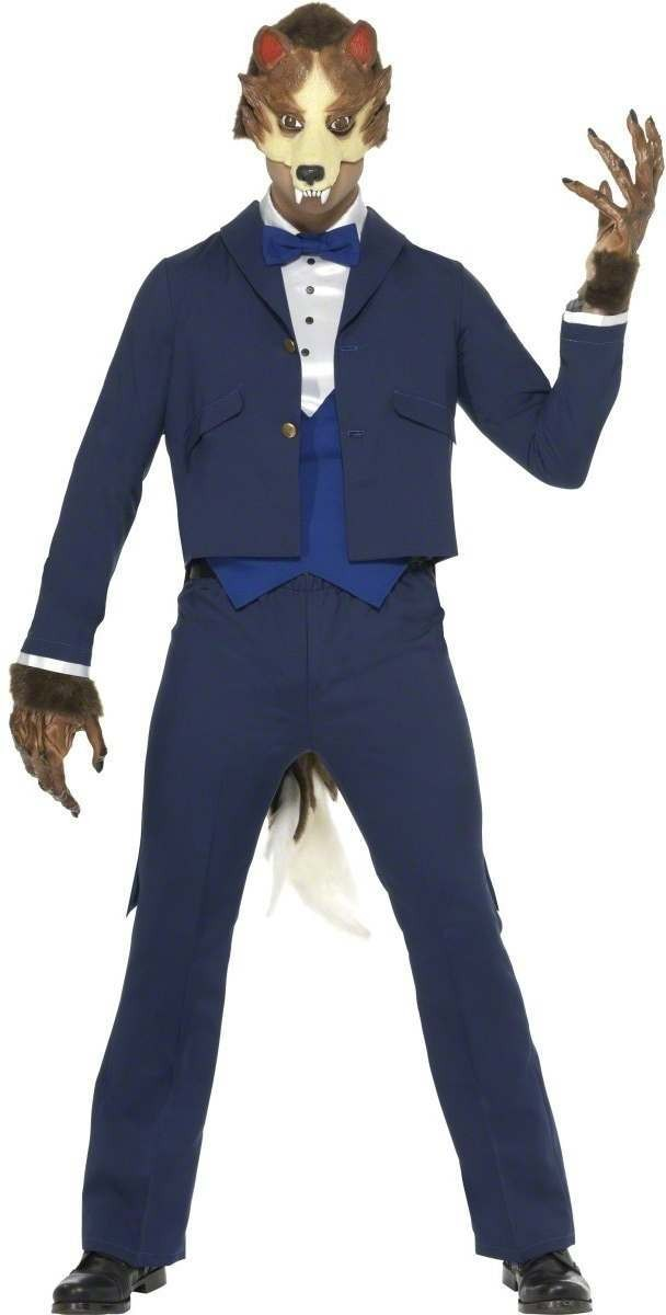 Mr Wolf Fancy Dress Costume Mens Size 38-40 S (Cartoon)