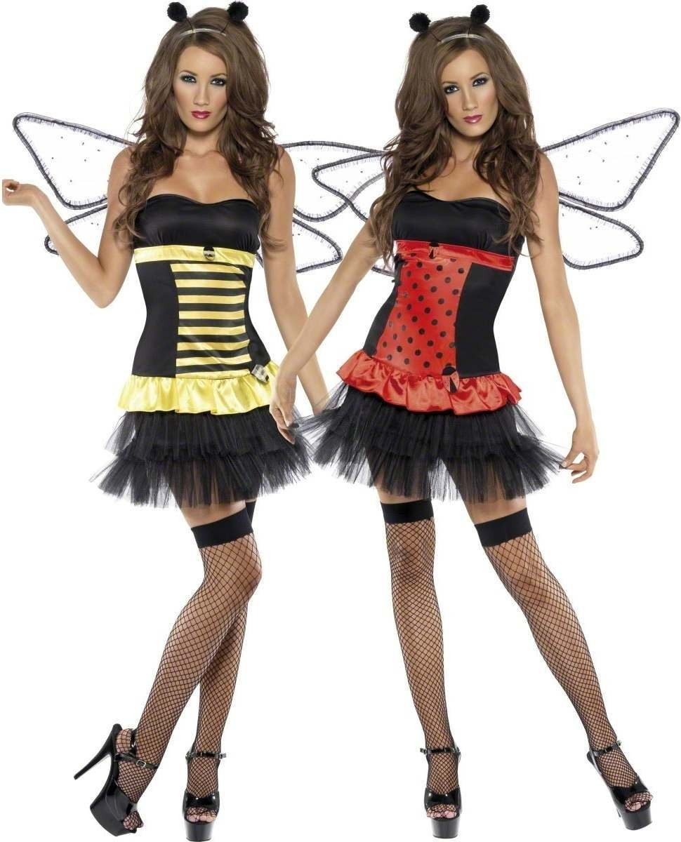 Fever Reversible Bumble Bee / Lady Bug Costume Ladies (Sexy)