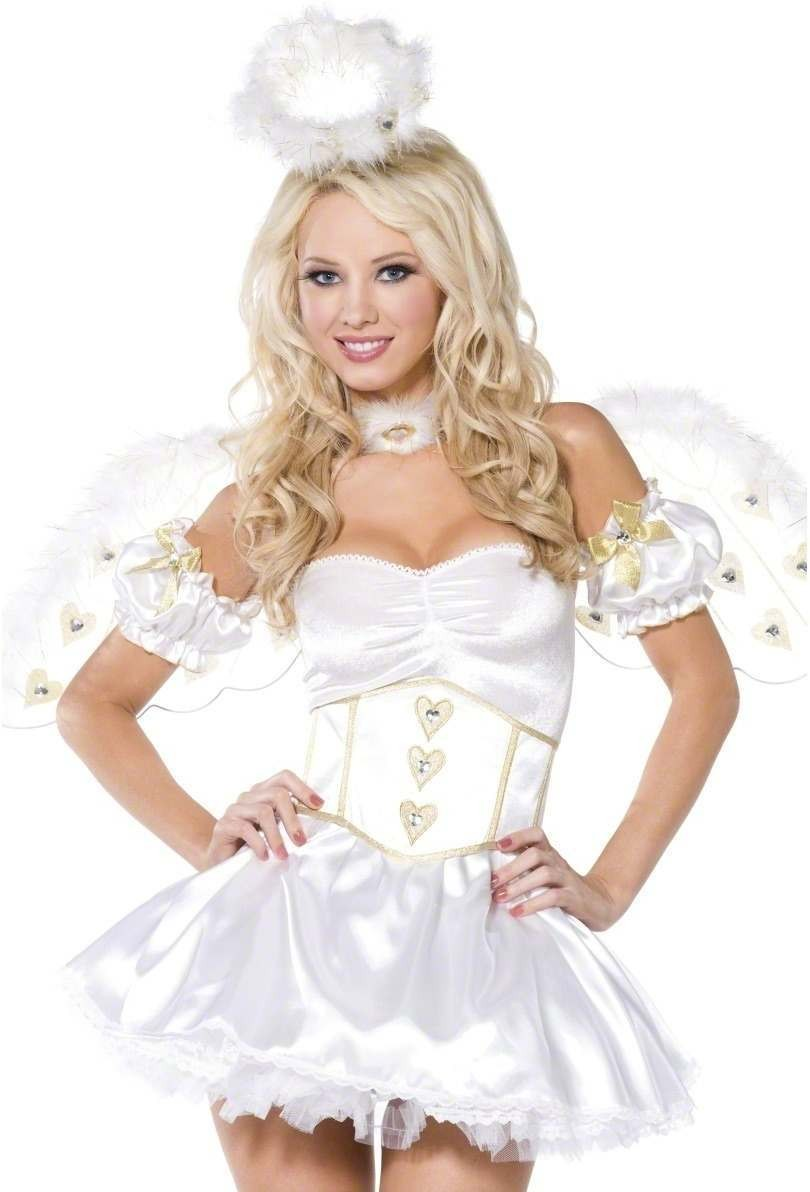 Bijou Boutique Golden Heart Angel 5 Piece Costume (Sexy)