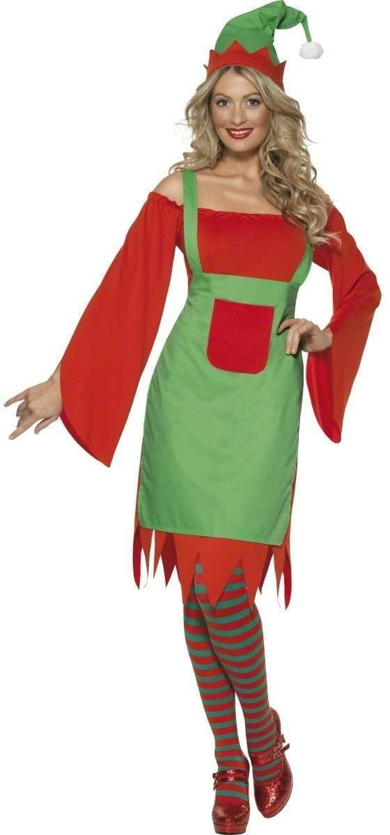 Cute Elf Fancy Dress Costume Ladies (Christmas)