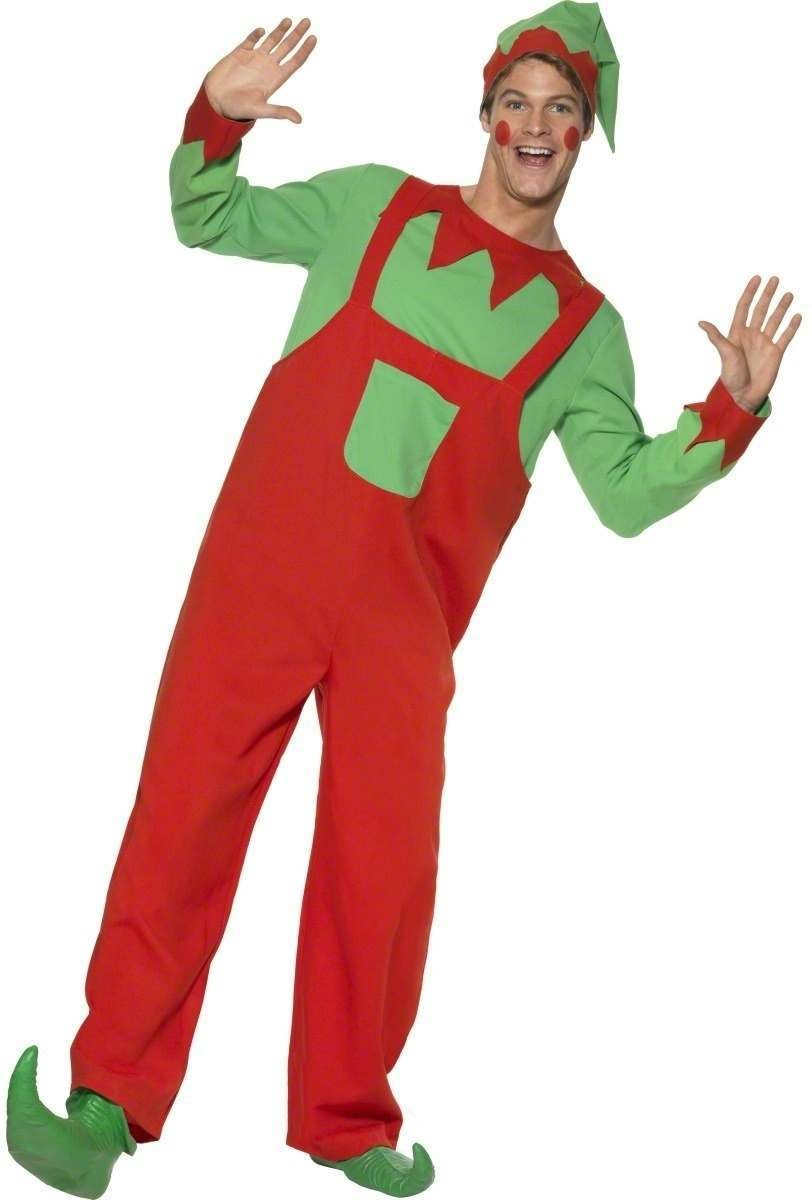 Workshop Elf Fancy Dress Costume Mens (Christmas)