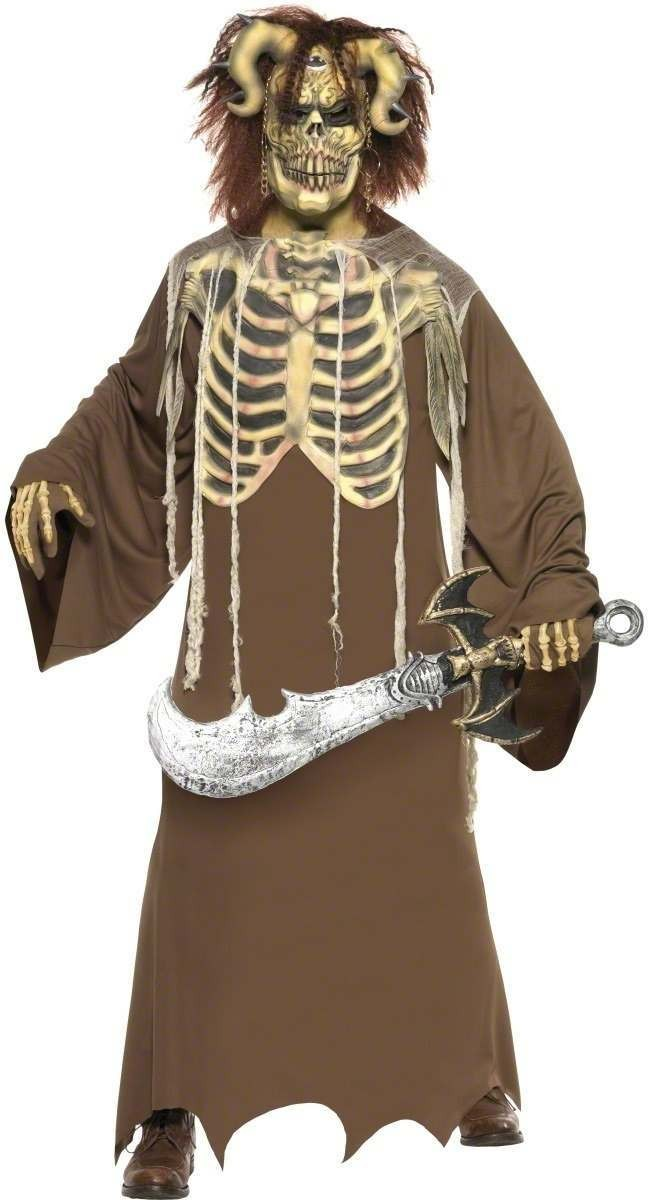 Skeleton King Fancy Dress Costume Mens Size 38-40 S (Halloween)